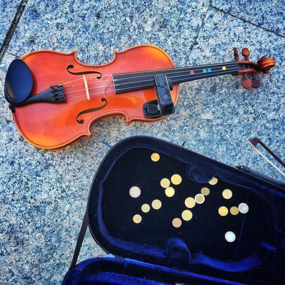 Violinistas callejeros