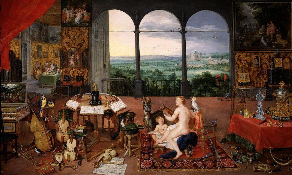 El sentido del oído - Jan Brueghel el Viejo y Peter Paul Rubens ,1617 - 1618