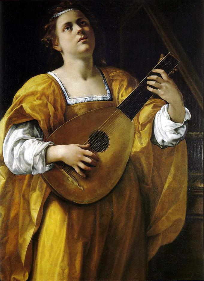 Santa Cecilia -  Artemisia Gentileschi